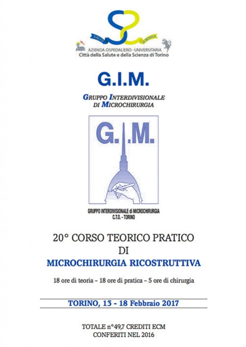 20° Corso Teorico Pratico di Microchirurgia Ricostruttiva