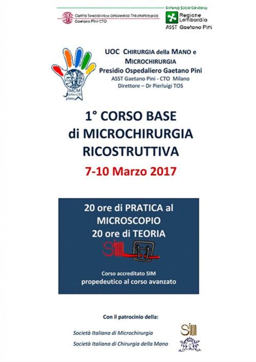 1° CORSO BASE di MICROCHIRURGIA RICOSTRUTTIVA