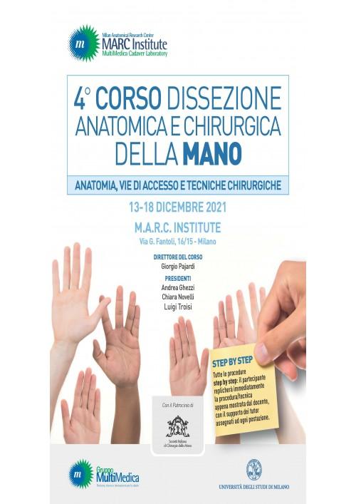 4° Corso Dissezione Anatomica e Chirurgica della Mano