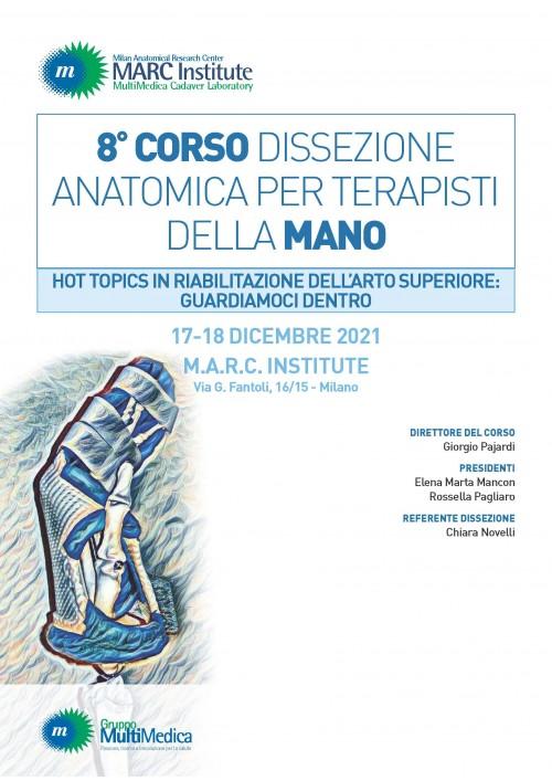 8° Corso Dissezione Anatomica per Terapisti della Mano