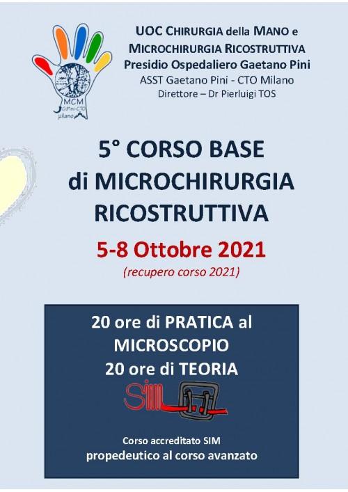 5° Corso base di Microchirurgia Ricostruttiva